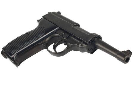 WWII era german army handgun isolated on white background