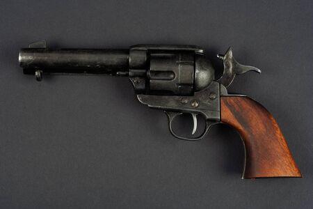 wild west revolver - single action army on black background Reklamní fotografie