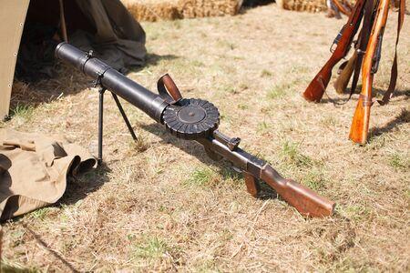 First World War-era Lewis automatic light machine gun