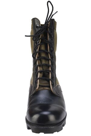 New brand US army pattern jungle boots isolated on white background