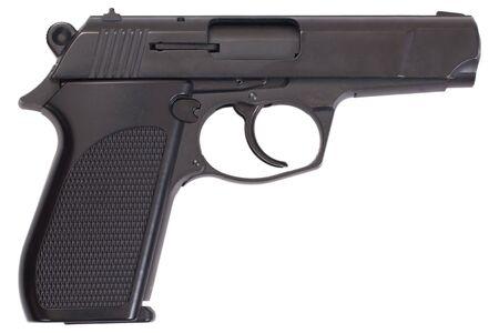 semi-automatic pistol isolated on white background Stock Photo