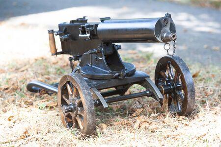 World War I Maxim gun - first recoil-operated machine gun in history Banque d'images