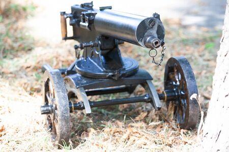 World War I Maxim gun - first recoil-operated machine gun in history