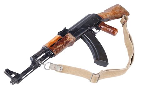 Rare first type model assault rifle isolated on white