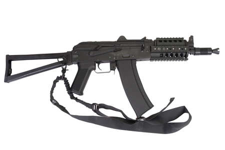 AK 47 with modern update kit isolated on white