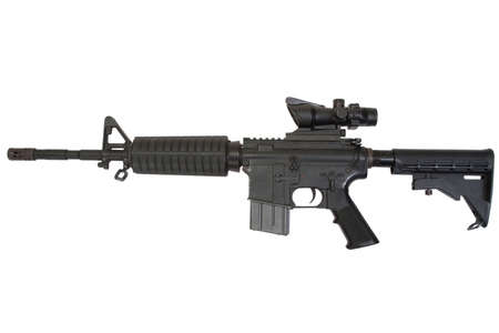 M4 carbine isolated on a white background