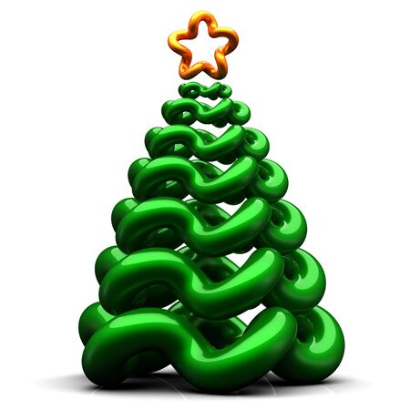 Stylized christmas tree. 3d render Stock Photo - 7653727