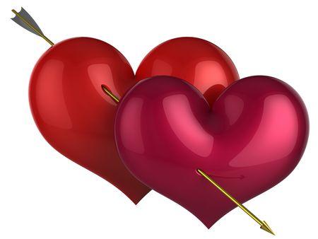 Love 110 percents. 3D render  photo