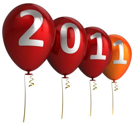 New year balloons. 3d render (Hi-Res) photo