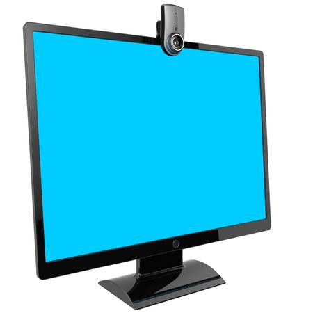 Computer monitor. Video call equipment (Hi-Res) photo