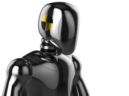 hires: Crash Test Dummy concept. 3D render (Hi-Res) Stock Photo