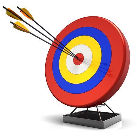 Hit a target. 3D render (Hi-Res) photo