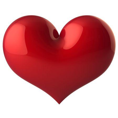 Hart vorm klassieke. Prachtige love symbool. Geïsoleerd op wit. Dit is een gedetailleerde 3D render (hi-res) Stockfoto