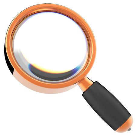 Magnifying glass. 3D render (Hi-Res). Isolated on white background Stock Photo - 8382334