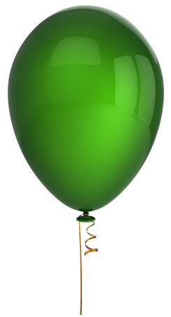 Green shiny helium balloon. This is a detailed 3D render (Hi-Res). Isolated on white Stock Photo - 8374713