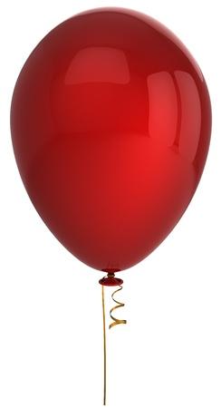 globo: Globo de helio de rojo. Se trata de un procesamiento 3D detallado (alta resoluci�n). Aislados en blanco backgrund