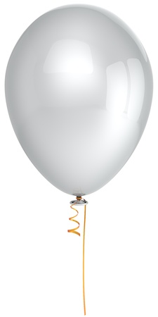 White helium balloon clean and perfect. Virgin concept. This is a detailed 3D render photo