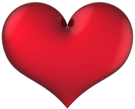 Love heart shape total red and shiny. Valentine day symbol. This is a detailed 3D render Stock Photo - 8417262