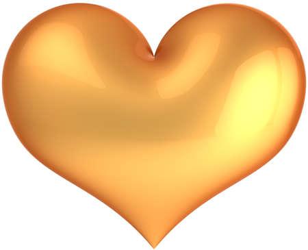 Glamour Heart Deluxe Golden Luxury Saint Valentines Day Symbol