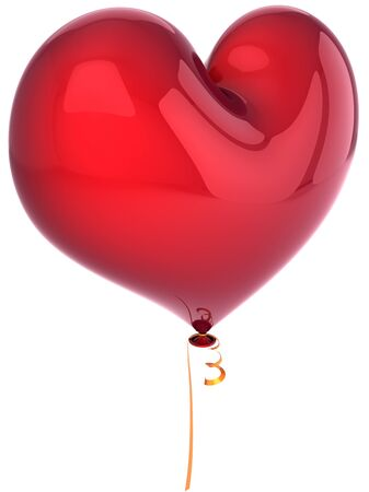 heart 3d: Heart balloon total red. Love party romantic decoration. Valentines day background