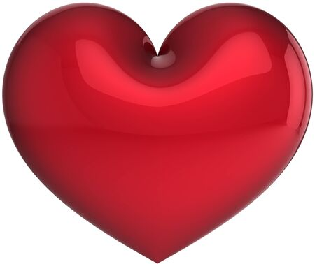 heart 3d: Elegance heart symbol total red. Love will save the world! Stock Photo