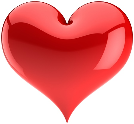 Heart Love red glossy symbol. Stock Photo