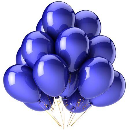 Shiny blue balloons. photo