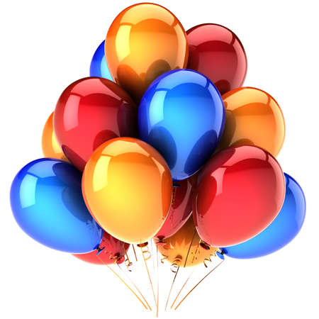 Balloons multicolored. photo