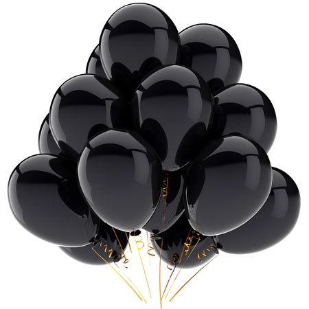 Balloons colored black.  Stock Photo - 8708635