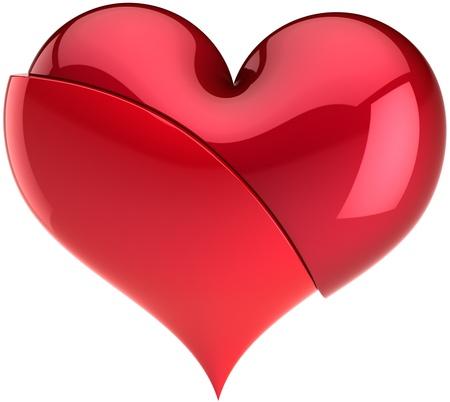 refused: Roto el coraz�n de amor. Ser negado el concepto. Resumen de la depresi�n de amante. Elemento de dise�o de tarjeta de felicitaci�n del d�a de San Valent�n. Esto es un detallado procesamiento 3d. Aislados en fondo blanco