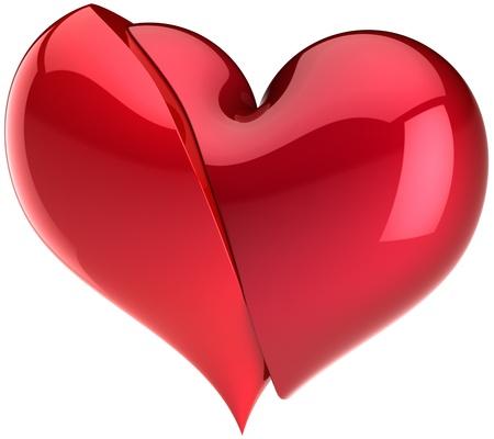 refused: S�mbolo de coraz�n roto. Ca�da de resumen de amor. Se rechaz� el concepto. Elemento de dise�o de tarjeta de felicitaci�n de San Valent�n. Esto es un detallado procesamiento 3d. Aislados en fondo blanco