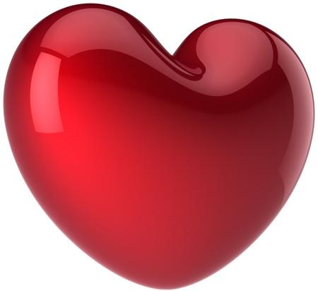 Hou van hart vorm. Romantische gevoel concept. Beautiful life symbool. Aftelkalender voor Valentijnsdag wenskaart ontwerpelement. Dit is een gedetailleerde 3d renderen (Hi-res). Geïsoleerd op witte achtergrond Stockfoto