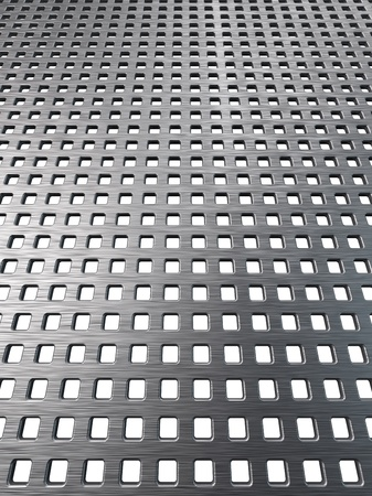 Texture of brushed metallic grill mesh. Abstract iron background. This is a detailed render 3d (Hi-Res) photo