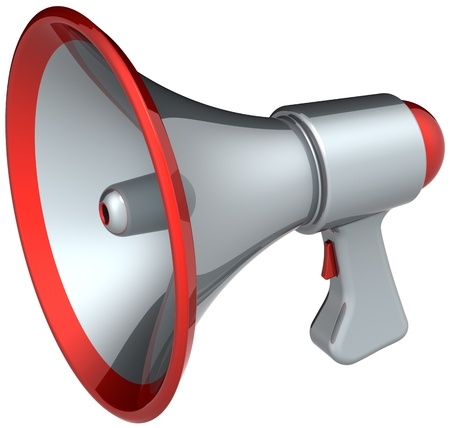 Megaphone news speech loudspeaker. This is a detailed render 3d (Hi-Res). Isolated on white background Stock Photo - 9180595