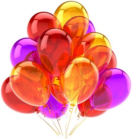 best party: celebrazione concetto di saluto. Dettagliate CG immagine 3d rendering. Isolato su sfondo bianco Archivio Fotografico