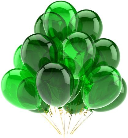 best party: celebrazione concetto di biglietto di auguri. Dettagliate CG immagine 3d rendering. Isolato su sfondo bianco Archivio Fotografico