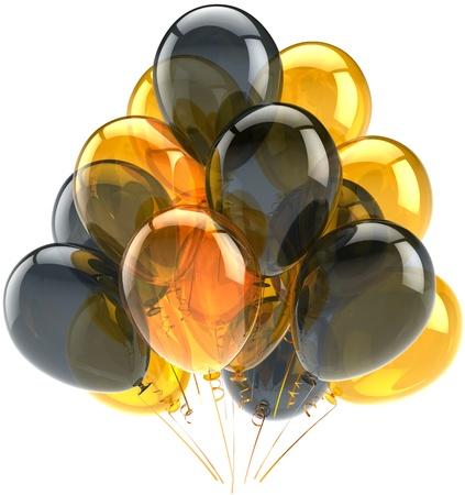 helium: celebration greeting card design element. Detailed CG image 3d render. Isolated on white background Stock Photo