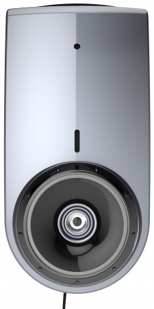 Web camera video call communication contemporary computer multimedia equipment front view close-up. detailed render 3d image. Isolated on white background photo