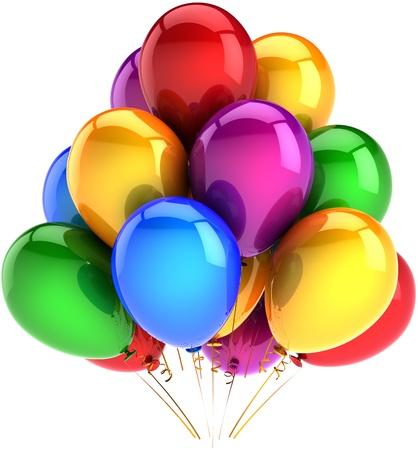 globo: concepto de saludo de celebraci�n. Detallada render 3d. Aislado en fondo blanco