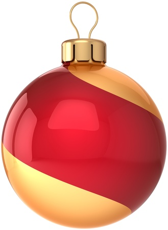 Christmas ball bauble Happy New Year Stock Photo - 10071513