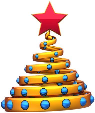 a76d18c3ff4  11138103 - Rbol de navidad chuchería Año Nuevo estilizada de oro con bolas  azules y una estrella roja. Hermoso símbolo de Navidad invierno vacaciones  icono ...