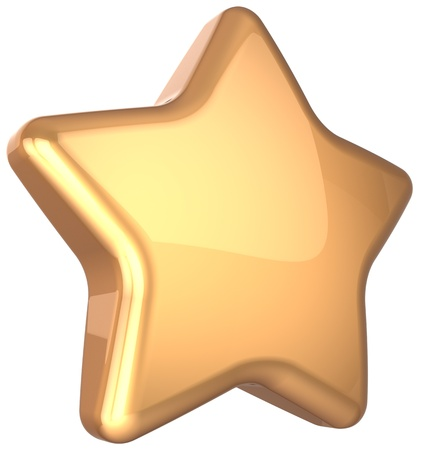 Golden star gold decoration  Prestige congratulation win very important ranking top quality excellent service luxury favorite best icon concept  Detailed 3d rendering Stock Photo - 16412572