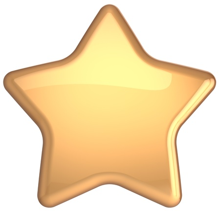 Golden star gold decoration  Prestige congratulation win very important ranking top quality excellent service luxury favorite best icon concept  Detailed 3d rendering