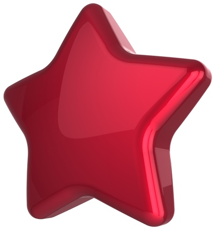 Red star blank award decoration  Prestige congratulation win very important leadership top quality excellent service favorite best icon concept  Detailed 3d rendering Stock Photo - 16589748