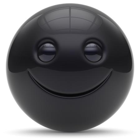 persona feliz: cara sonriente alegre rótula de la esfera de dibujos animados emoticon sonriente feliz linda decoración de color rojo. Sonrisa divertida alegre persona se ríe juguete carácter alegría buena avatar. 3d aislado