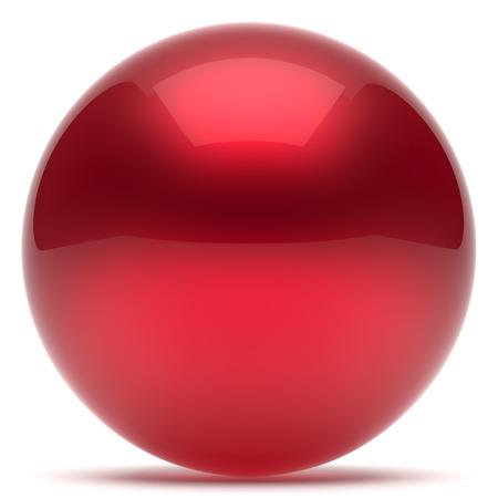 solid figure: sfera della sfera geometrica pulsante forma del cerchio tondo di base figura solida semplice elemento minimalista singola goccia rossa lucido oggetto scintillante palloncino vuoto icona atomo lucido. Rendering 3D isolato