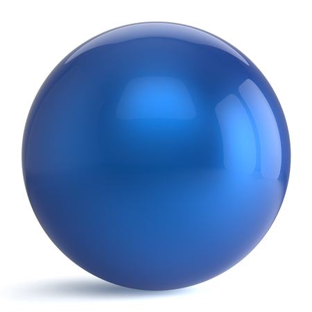 circle objects: Sphere button round blue ball geometric shape basic circle solid figure simple minimalistic atom element single drop shiny glossy sparkling object blank balloon icon. 3d render isolated