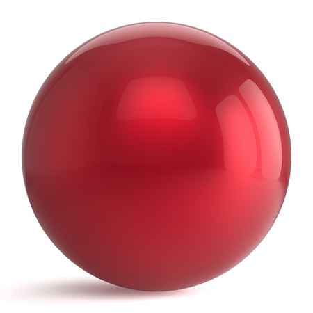 basic figure: Sphere button round red ball geometric shape basic circle solid figure simple minimalistic atom element single drop shiny glossy sparkling object blank balloon icon. 3d render isolated