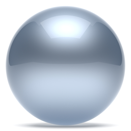 chrome ball: Sphere ball geometric shape button round basic circle solid figure simple minimalistic element single white chrome silver shiny glossy sparkling object blank balloon atom icon. 3d render isolated