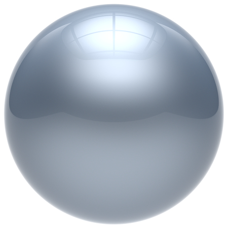 basic shapes: Sphere button round ball white geometric shape basic circle solid figure simple minimalistic element single drop chrome shiny glossy sparkling object blank balloon atom icon. 3d render isolated